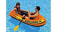 Надувная лодка Intex 58331 EXPLORER + весла +насос , надувная мебель, фото 1