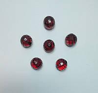 Бусина шар граненый красные 18 мм