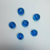 Бусина шар граненый синие 18 мм