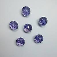 Бусина шар граненый сиреневый 21 мм
