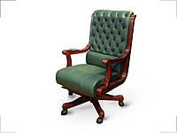 Кресло Сорренто Кожа Люкс Темно-Зеленая (Диал ТМ)