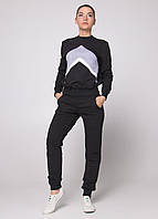 Женские спортивный костюм Go Fitness черного и серого цвета (Топ качество)