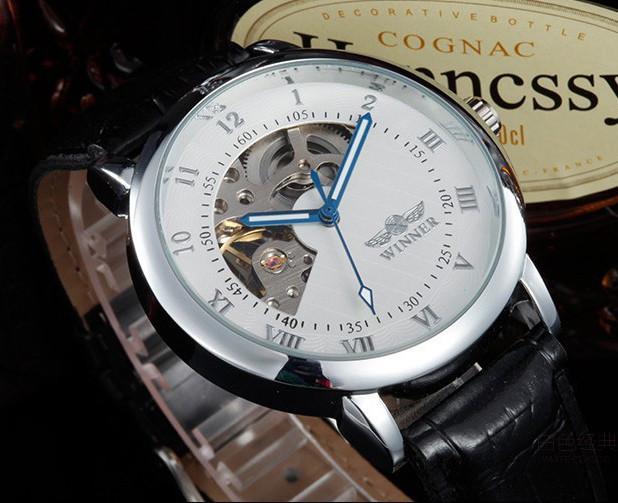 Мужские механические часы Winner Elegant Silver
