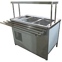 Холодильный прилавок ПВХЛС с охлаждаемым боксом и одной полкой