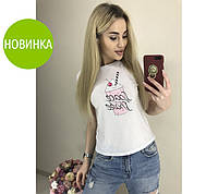"Белая футболка с принтом ""Ice Cream"" #A/S"