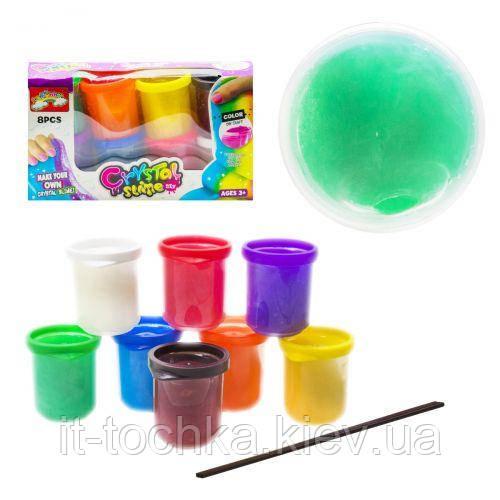 Набор слаймов лизунов lefunny /432П8 pearl glow 8 баночек