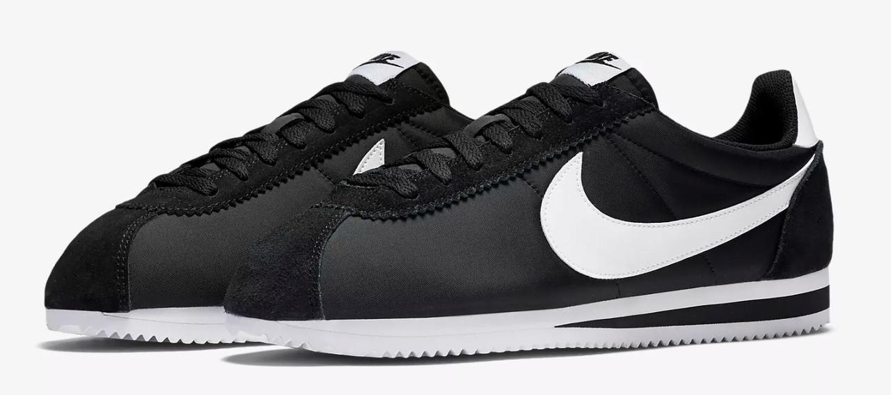 Nike Classic Cortez Nylon черные оригинальные кроссовки большие размеры