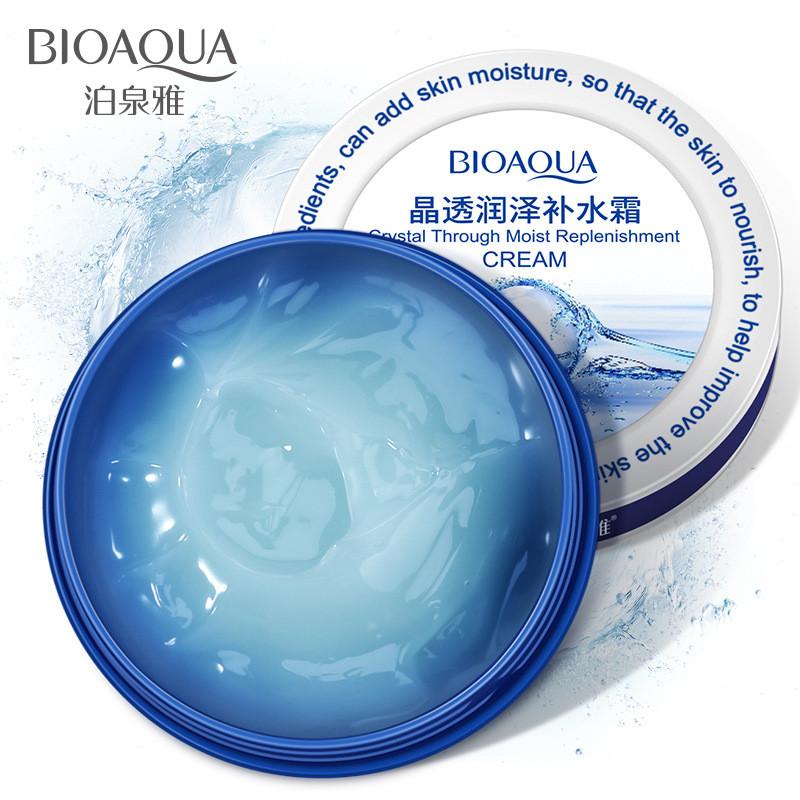 Увлажняющий крем-гель для лица с гиалуроновой кислотой Bioaqua Crystal Through Moist Replenishment Cream (38г)