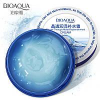 Увлажняющий крем-гель для лица с гиалуроновой кислотой Bioaqua Crystal Through Moist Replenishment Cream (38г), фото 1