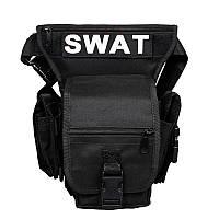 Сумка тактическая на бедро D5 SWAT черная