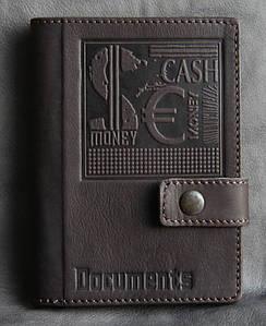 Кожаный бумажник водителя CASH