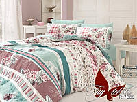 ✅ Двуспальный комплект постельного белья (Ранфорс) TAG R7080