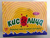 Жевательная резинка Кислица тутти-фрутти 100 штук, фото 1