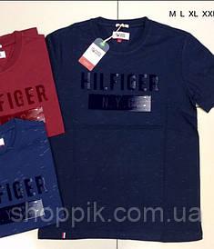 Мужская футболка Tommy Hilfiger Темно-синяя  Реплика