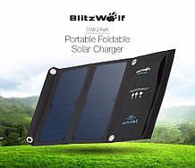 BlitzWolf BW-L2 15W 5V 2A 2 USB солнечная батарея, зарядное, панель, акумулятор,