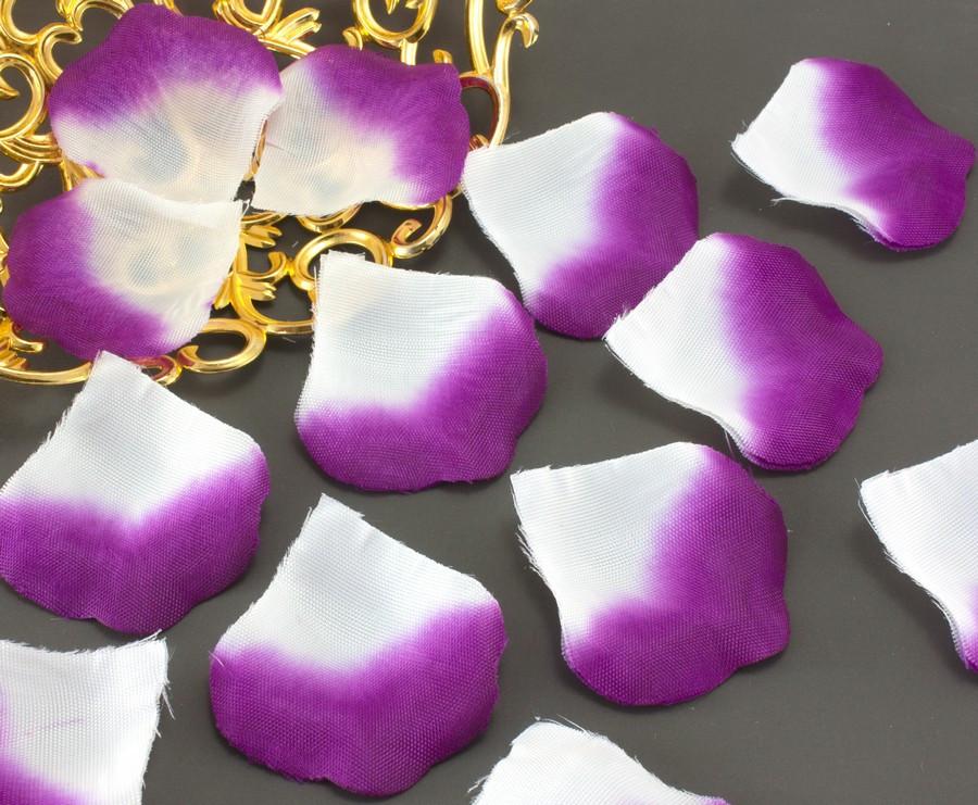 (≈140шт) Лепестки роз, искусственные Цена за упаковку Цвет - Бело-фиолетовый