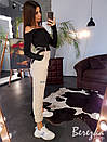 Женский брючный костюм с брюками - карго на манжетах и топом 66ks1374E, фото 2