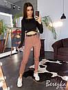 Женский брючный костюм с брюками на манжетах и с черным топом 66ks1375E, фото 4