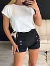 Белая женская футболка прямого фасона базовая  8ma248, фото 2