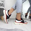 Женские кроссовки без шнуровки с яркими вставками 74OB27, фото 2