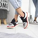 Женские кроссовки без шнуровки с яркими вставками 74OB27, фото 3