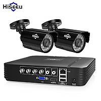 Комплект Full HD  видеонаблюдения AHD Hiseeu AKIT-2AHBB12 на 2 камеры регистратор и провода
