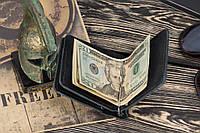 Зажим для денег кожаный mod.Stayer black classic