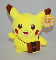Мягкая игрушка Пикачу с сумочкой на присоске Pikachu