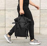 Мужской рюкзак роллтоп STREAMER черный, чоловічий рюкзак