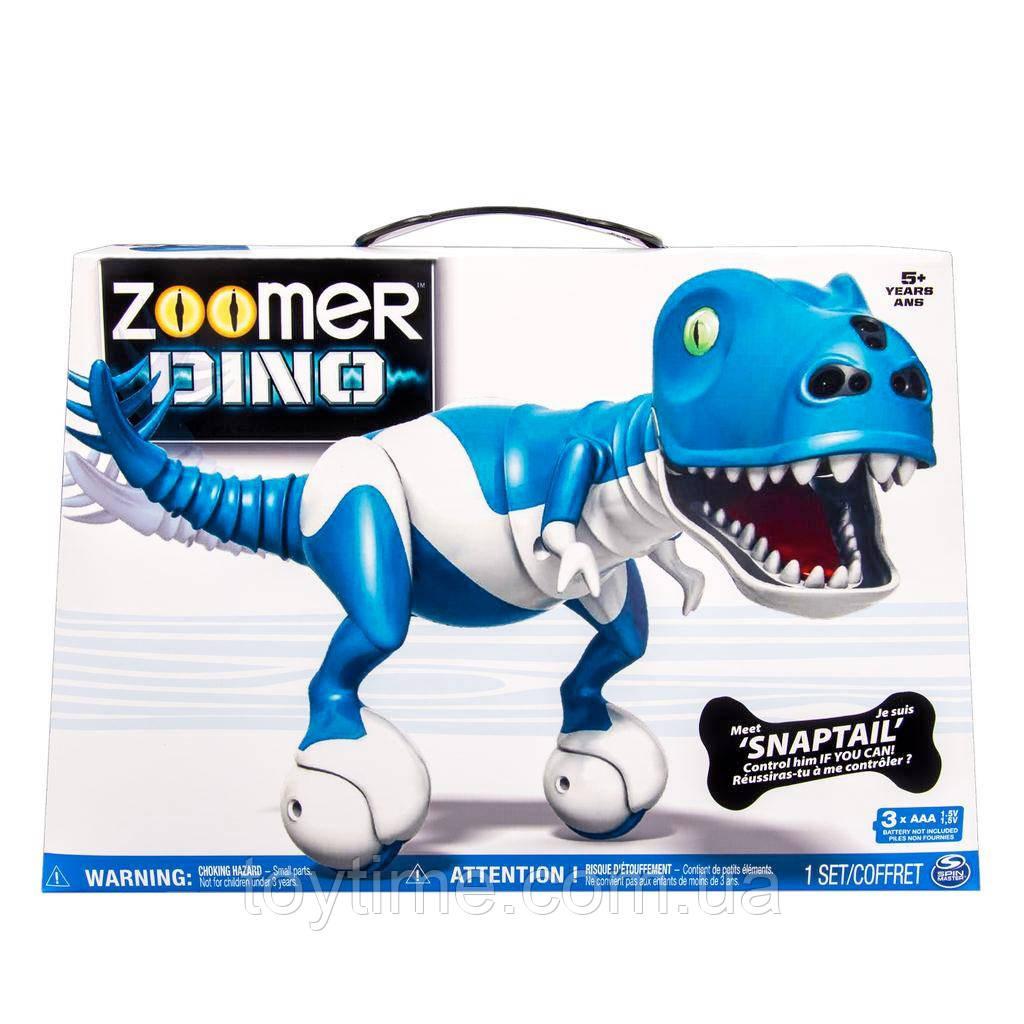 Интерактивная игрушка Зумер Дино синий Робот-динозавр от Spin Master / Spin Master Zoomer Dino Snaptail