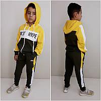Модный спортивный костюм JUST HYPE Оливка/жёлтый