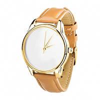 """Часы """"Минимализм"""" (ремешок карамельно - коричневый, золото) + дополнительный ремешок (4600271), фото 1"""