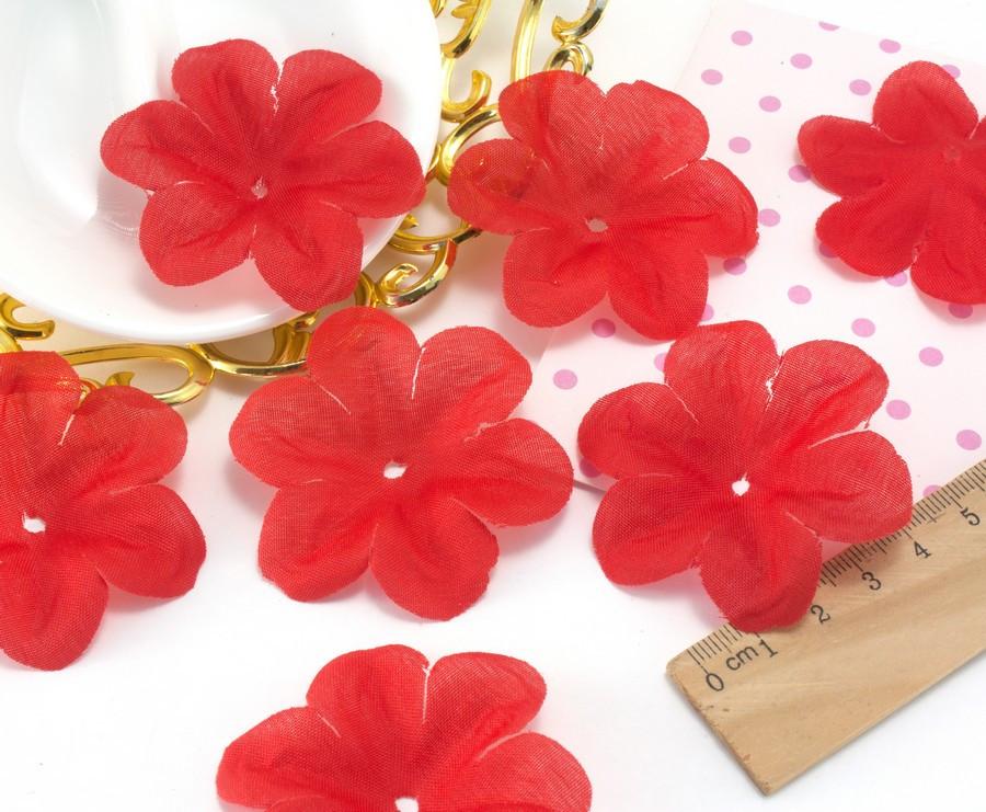 (10 ГРАММ ≈60 шт) Заготовка для цветка, пресс Ø55мм Цвет - Красный
