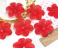 (10 ГРАММ ≈60 шт) Заготовка для цветка, пресс Ø55мм Цвет - Красный, фото 1