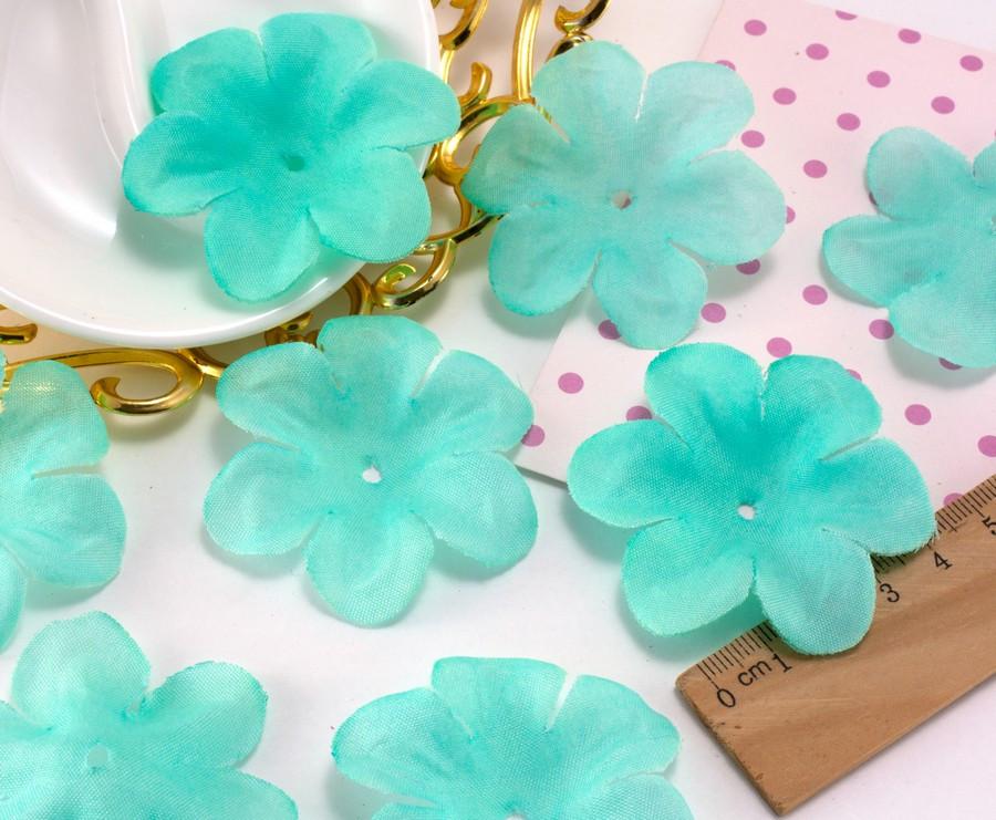 (10 ГРАММ ≈60 шт) Заготовка для цветка, пресс Ø55мм Цвет - Тиффани