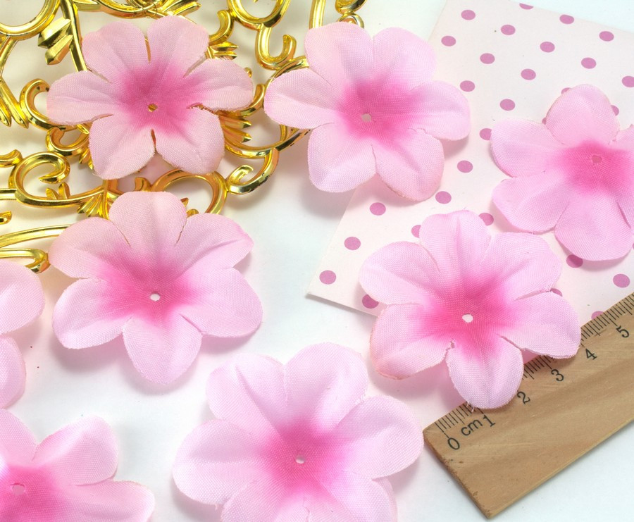 (10 ГРАММ ≈60 шт) Заготовка для цветка, пресс Ø55мм Цвет - Нежно розовый