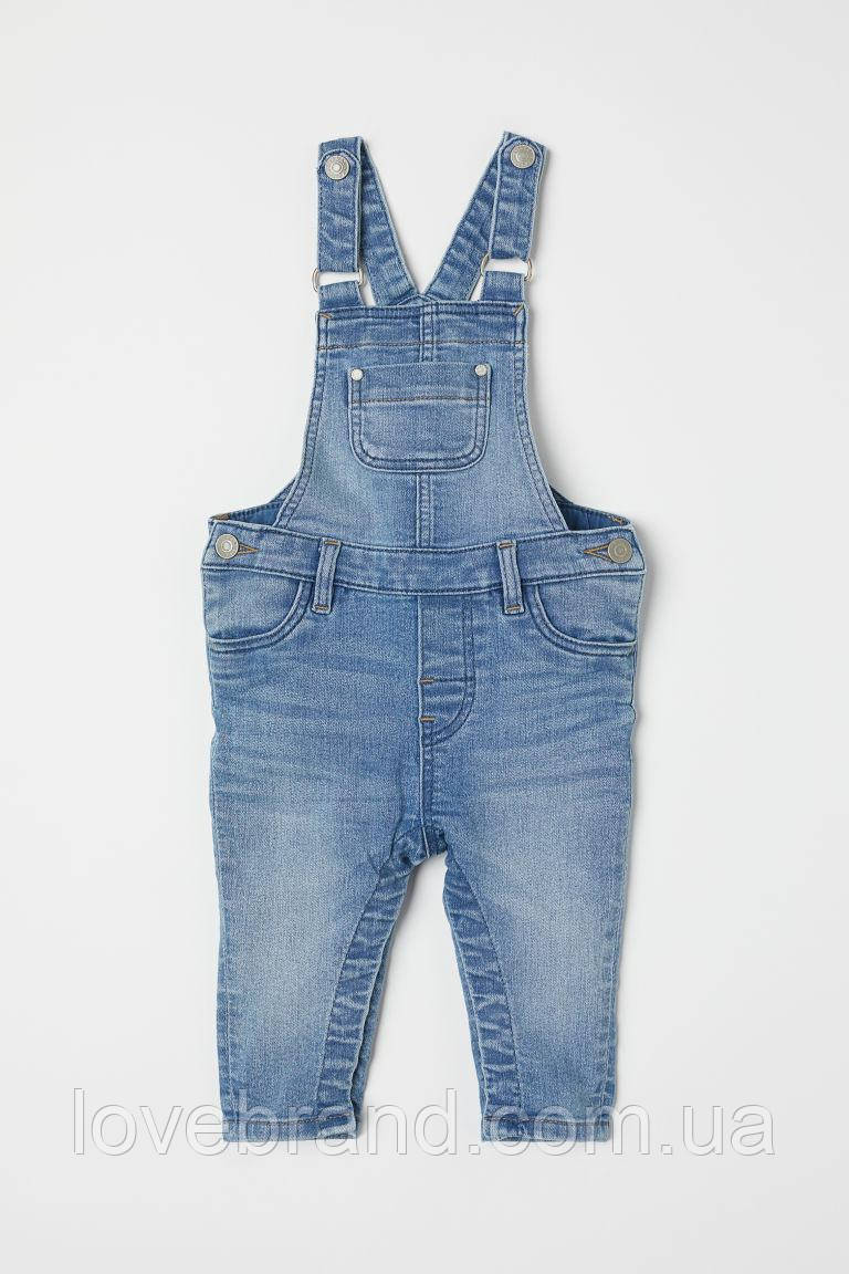Модный джинсовый комбинезон для мальчика H&M , брендовый комбинезон полукомбинезон