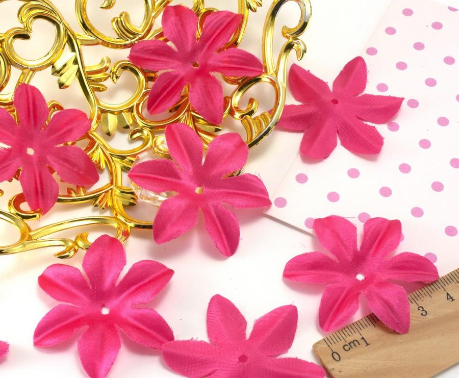 (10 ГРАММ ≈90 шт) Заготовка для цветка, пресс Ø48мм (с атласным блеском) Цвет - Малиновый
