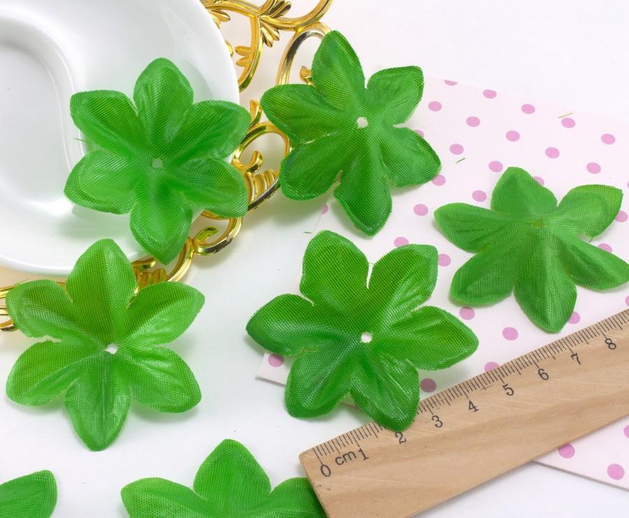 """(10 ГРАММ ≈45 шт) Заготовка для цветка, пресс Ø60мм """"Чашелистик"""" Цвет - Светлая зелень"""
