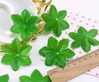 """(10 ГРАММ ≈45 шт) Заготовка для цветка, пресс Ø60мм """"Чашелистик"""" Цвет - Светлая зелень, фото 1"""