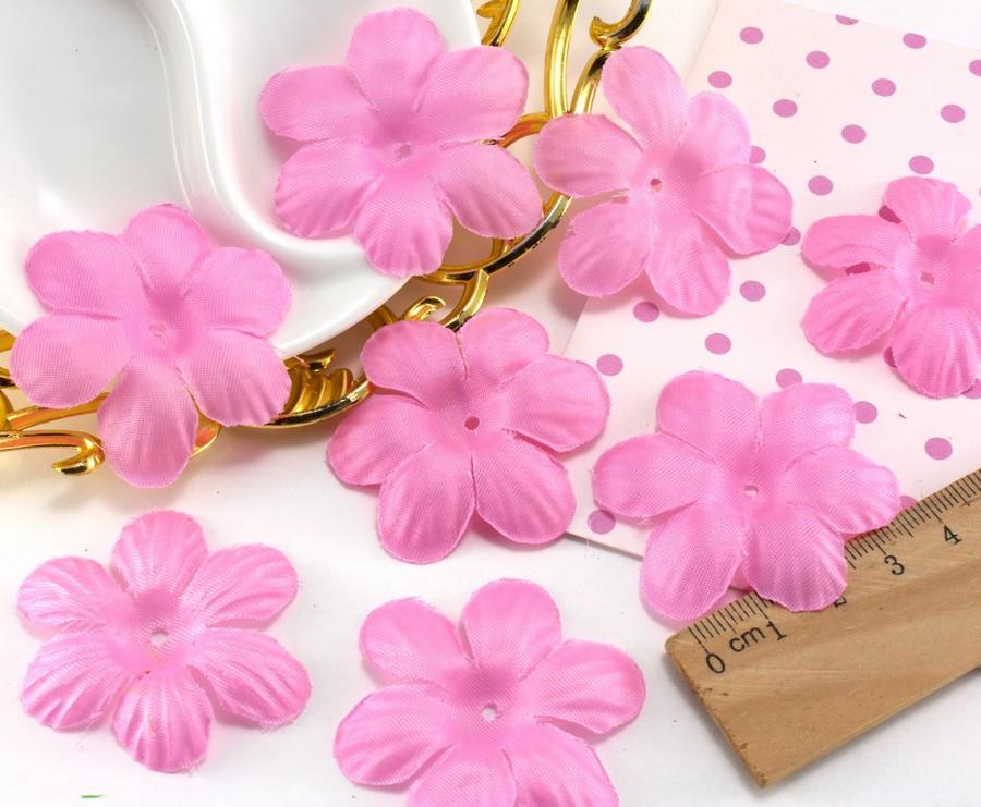 (10 ГРАММ ≈75 шт) Заготовка для цветка, пресс Ø48мм Цвет - Розовый