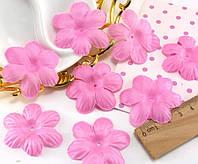 (10 ГРАММ ≈75 шт) Заготовка для цветка, пресс Ø48мм Цвет - Розовый, фото 1