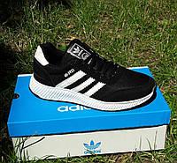 Кроссовки Мужские Adidas Iniki Runner Boost Чёрные Адидас (размеры: 40,41,42,43,44) Видео Обзор