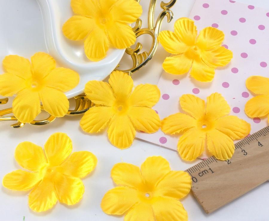 (10 ГРАММ ≈75 шт) Заготовка для цветка, пресс Ø48мм Цвет - Жёлтый
