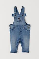 Модный джинсовый комбинезон для мальчика H&M с мордочкой собачки