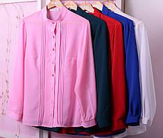 Элегантная женская блуза из креп шифона в деловом стиле с 48 по 82 размер