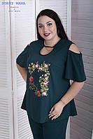 Изящная летняя женская блуза свободного кроя с 48 по 82 размер