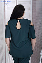 Изящная летняя женская блуза свободного кроя с 48 по 82 размер, фото 2