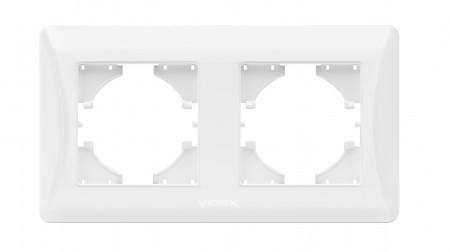 Рамка подвійна горизонтальна біла VIDEX BINERA