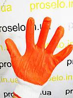 """Перчатки (рукавицы) """"Вампирки"""". Стрейч c латексным покрытием, (оранжевые, синие) 12 пар\упаковка, фото 1"""
